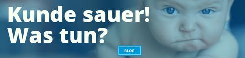 Kunde sauer Kundenservice Banner E-Mail-Signatur