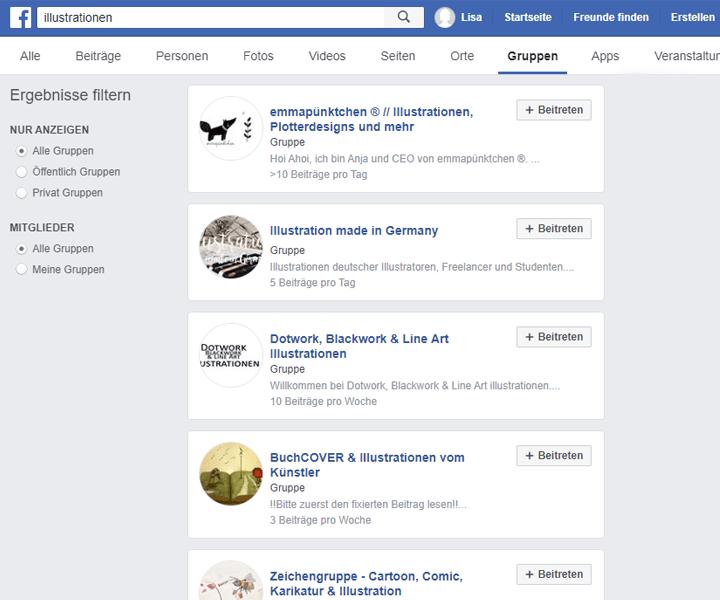 Illustrator Facebook